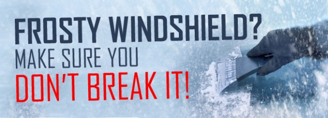 Windshield ice and snow removal safety tips family for Family motors wichita ks